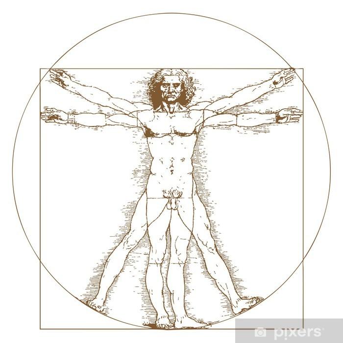 L'uomo Vitruviano di Leonorado da Vinci